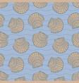 seashells and stripes vector image vector image