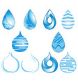 set blue droplet icon design vector image vector image