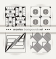 set of seamless abstract geometric mosaic patterns vector image