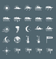 set with different weather icons vector image vector image