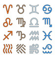 signs zodiac elements water fire earth air icons vector image