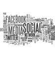 social media word cloud concept vector image vector image