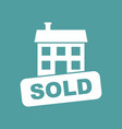 sold house icon in flat style on isolated vector image vector image