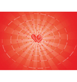 spiral made of word Love vector image vector image