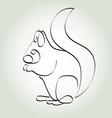 Squirrel in minimal line style vector image