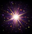 star burst with sparkles vector image vector image