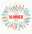 summer party - poster card invitation banner vector image vector image