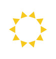 summer symbol sun modern icon sunny circle shape vector image vector image