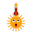 surprizing sun thermometer and arrow up