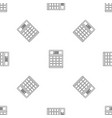 tax calculator pattern seamless vector image vector image