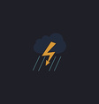 thunderstorm computer symbol vector image vector image