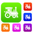 toy train set collection vector image vector image