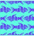 trendy sliced fish seamless pattern vector image