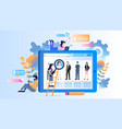 various occupation avatar on tablet device monitor vector image vector image