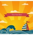 Vintage beautiful sunset seaside background vector image vector image