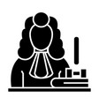 judge - gavel icon blac vector image