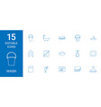 15 wash icons vector image vector image