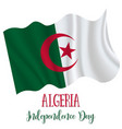 5 july algeria independence day vector image vector image