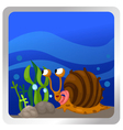 a snail underwater background vector image