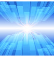 abstract blue technology background with glow star vector image