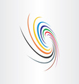 abstract spyral color tornado background vector image