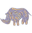african rhinoceros vector image vector image
