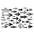 arrow pointers hand-drawn set vector image