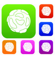 beautiful planet set color collection vector image vector image