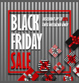 black friday sale banner with different gift boxes vector image vector image