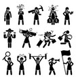 businesswoman being various characters artworks vector image vector image