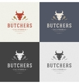 Butcher Shop Design Element in Vintage Style for vector image vector image