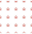 cargo plane back view icon pattern seamless white vector image vector image