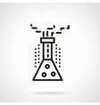 Chemical reaction black line design icon vector image vector image