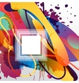 Colorful decorative background with free shapes vector image vector image