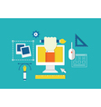 Concept of web design and devices for work vector image vector image