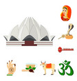 country india cartoon icons in set collection for vector image