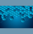 dark blue hi-tech geometric abstract background vector image