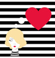 fashion girl dreaming of love vector image