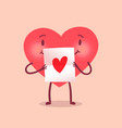 funny heart character vector image vector image