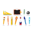 Funny School Equipment vector image