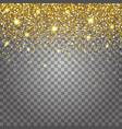 gold dust glitter for design vector image vector image