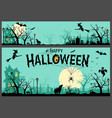 halloween background and banner vector image