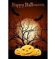 Halloween Zombie Party Poster Holiday Card vector image vector image