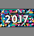 happy new year 2017 vintage lettering design vector image vector image