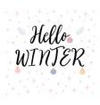hello winter christmas greeting card vector image vector image