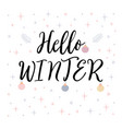 hello winter christmas greeting card with vector image vector image