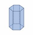 hexagonal prism vector image vector image