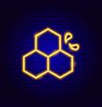 honey splash neon sign vector image vector image