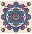 Indian doodle paisley boho mandala vector image vector image