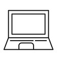 laptop thin line icon computer vector image vector image